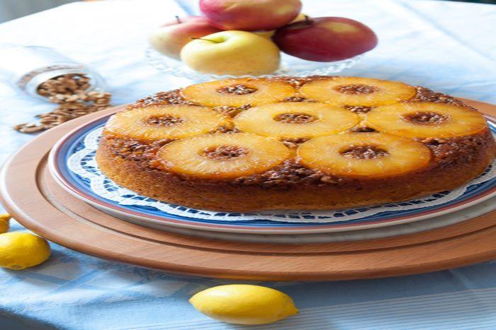 Receta de Volteado de Piña, una tarta de piña fresca y esponjosa, entra en la web y verás cómo se hace paso a paso!
