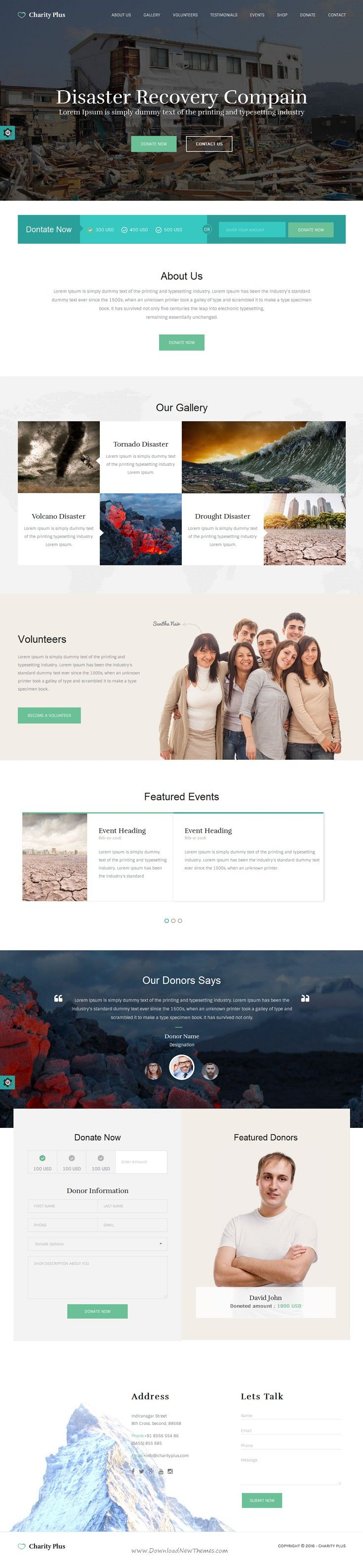 CharityPlus, clean, modern, user friendly and responsive Bootstrap HTML #website #template suitable for charity, NGO, non-profit organization, #donation, church or a #fundraising website.