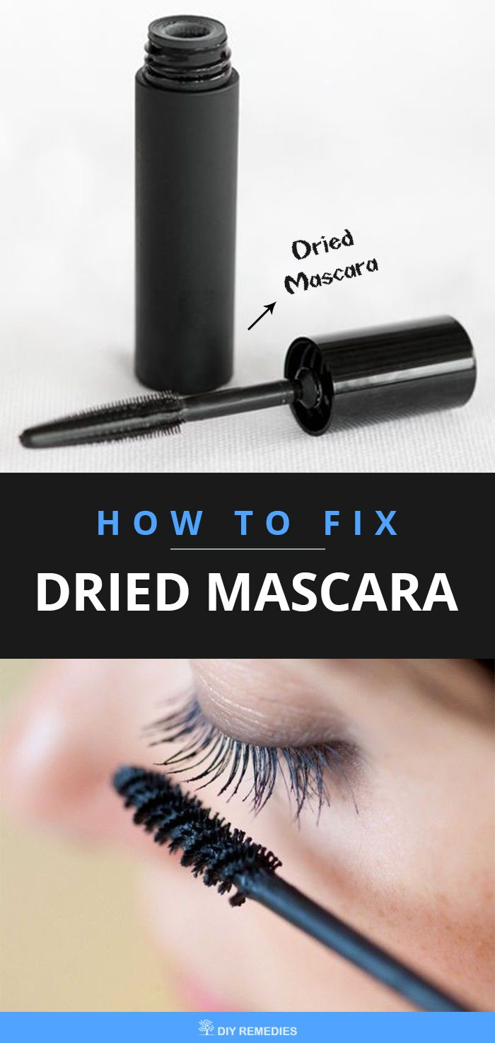 Best Ways to Fix Dried Mascara  If your mascara is dried within the usage of less than 3 – 4 months, then instead of buying a new one, you can revive it by using some simple tips and thus make them work as a new one. #DIYRemedies
