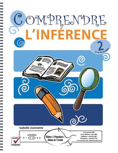 Comprendre l'inférence 2 a pour but d'aider les élèves à reconnaître les inférences contenues dans un texte. Chaque page du document comporte un court texte suivi de plusieurs questions d'inférence ou d'exercices visant à la compréhension de l'inférence. Les questions sont simples et les indices sont repérables dans le texte par l'utilisation de différentes polices de caractère.