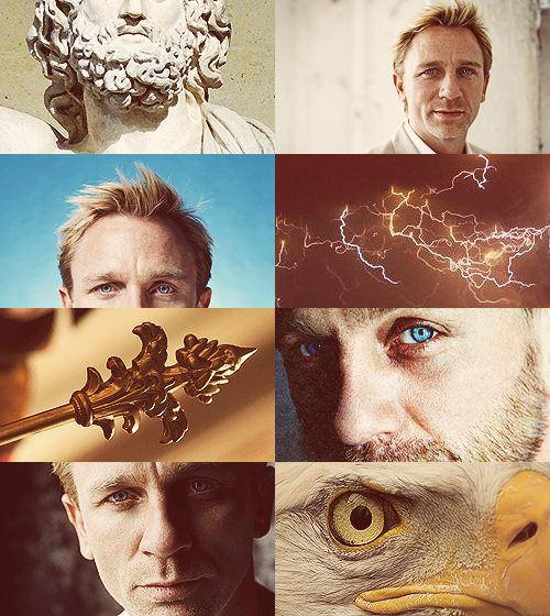 Greek Mythology Dreamcast - Daniel Craig as Zeus Thy power divine the flaming lightning shrouds with dark investiture in fluid clouds. Tis thine to brandish thunders strong and dire, to scatter storms, and dreadful darts of fire; with roaring flames involving all around, and bolts of thunder of tremendous sound. (x)
