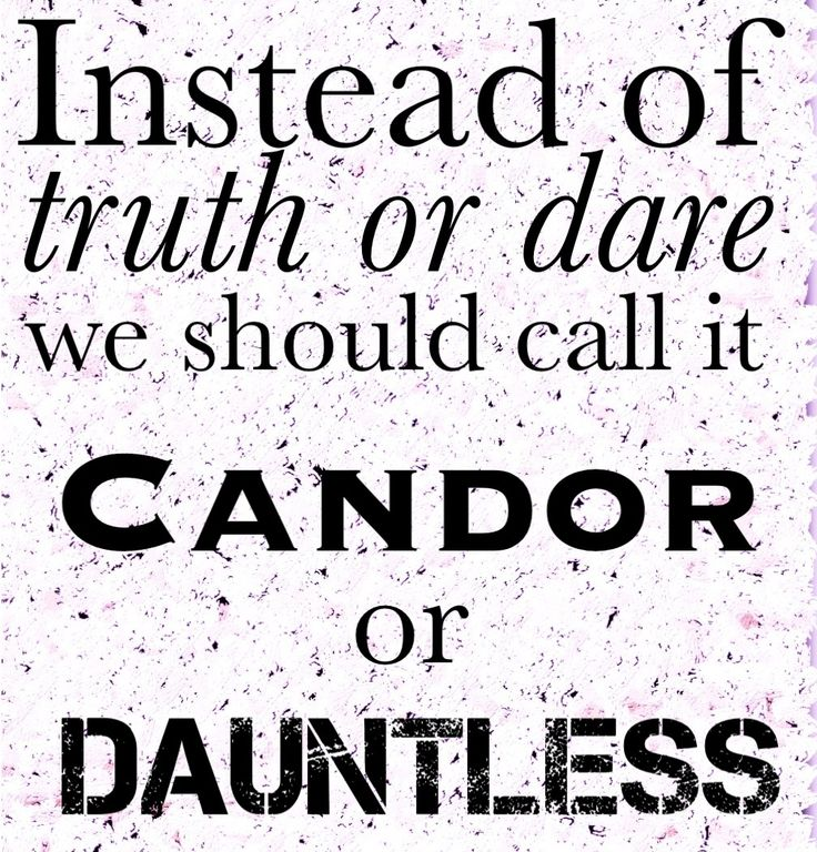 Candor or Dauntless. Who's with me?!?