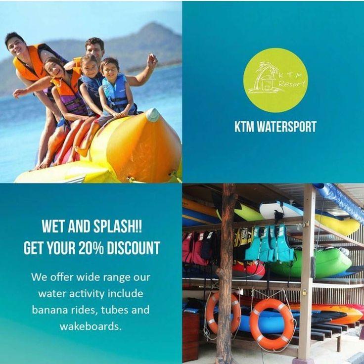 [KTM Water Sport Deal]   Diskon 20% Semua Permainan Air  Ayo buat liburan Anda menjadi tidak terlupakan di KTM Water Sport bersama teman-teman anda. Dapatkan diskon 20% dengan kupon GoDeal bagi anda yang ingin merasakan adrenalin bermain air di KTM Water Sport.  - Banana Boat (15 minute) = Rp 150.000 /pax - Standing Paddle Board (30 min) = Rp 100.000 /pax - Aqua Marine (30 min) = Rp 150.000/kayak - Malibu (30 min) = Rp 200.000 /kayak - Drifter Tube (15 min) = Rp 200.000 /pax - Hammerhead…