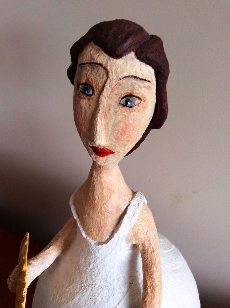 papel mach paper mache pinterest paper mache dolls and paper clay. Black Bedroom Furniture Sets. Home Design Ideas