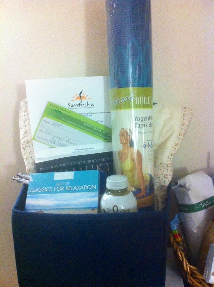 Yoga Gift Basket.