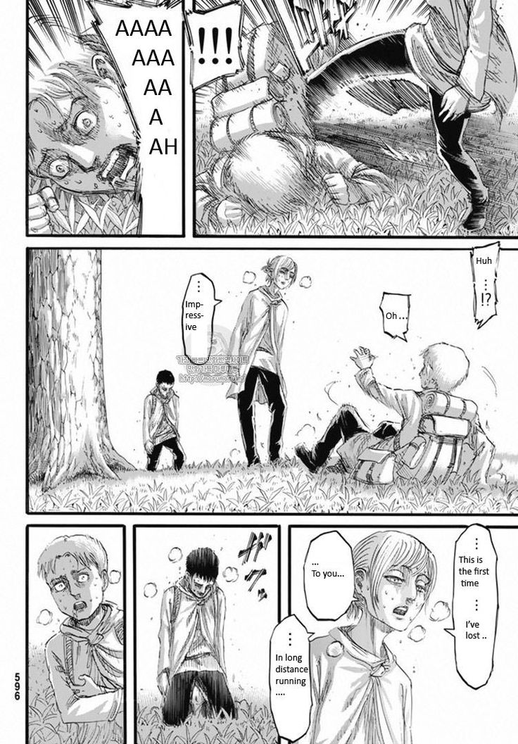 Shingeki no Kyojin Chapter 96 - Young Annie being badass. Reiner defenses are down due to guilt of Marcel's death.