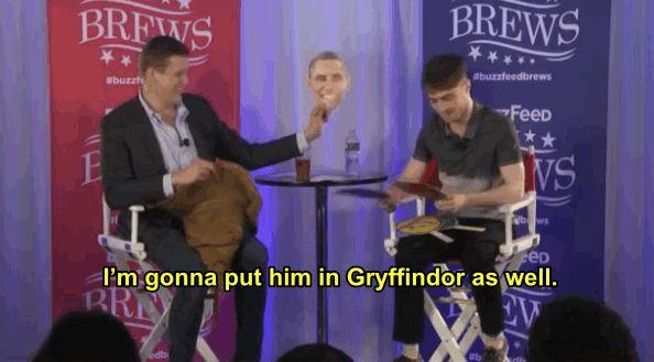Barack Obama: Gryffindor   Daniel Radcliffe Sorts Celebrities Into Different Hogwarts Houses