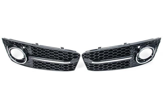 Aggressiv RS4 Front Bumper Lower Grille, Mesh Style Audi B8 A4 (09-2012)   #Audi #TagsForLikes #exoticcars #horsepower #race #vehicle #spoiler #SequentialPerformance #speed #engine #ride #muffler #VW #rim #drive  Worldwide Shipping Available! -Qualified Free shipping Available!   Add the aggressive RS4 style look to your 2009-2012 Audi A4. The Aggressiv mesh style grilles are a direct replacement for the lower factory grilles and are a perfect match to the Aggressiv center grille.Fits Non…