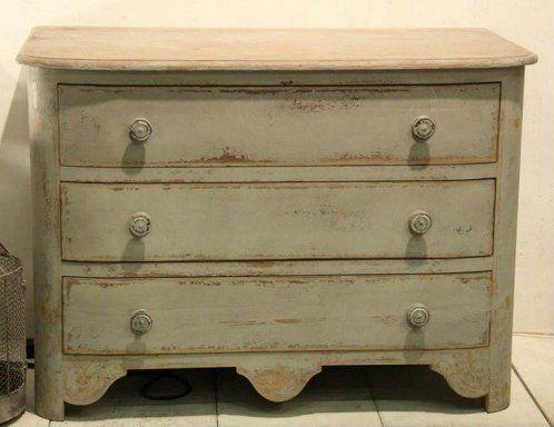 ECO-IDEAS Y RECICLAJE : Cómo pintar un mueble en blanco envejecido.