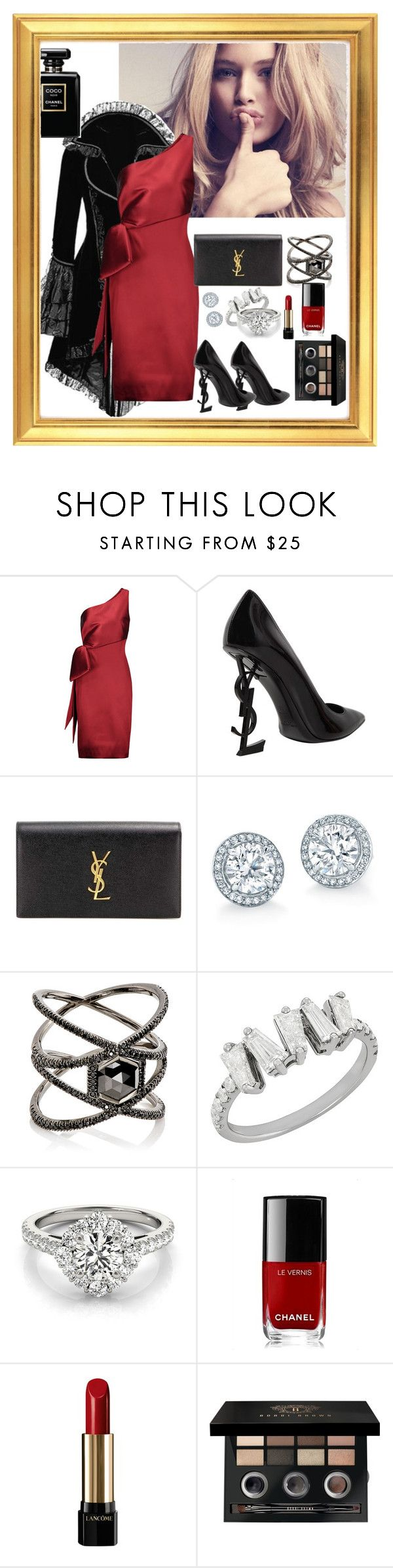 """Celebrate Our 10th Polyversary!"" by piapia74 ❤ liked on Polyvore featuring NOIR Sachin + Babi, Yves Saint Laurent, Eva Fehren, Chanel, Lancôme, Bobbi Brown Cosmetics, polyversary and contestentry"