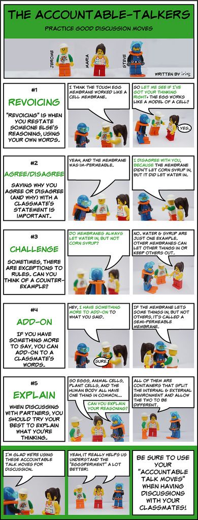 Lego Figure Accountable Talk Training - discussion moves | Flickr - Photo Sharing!