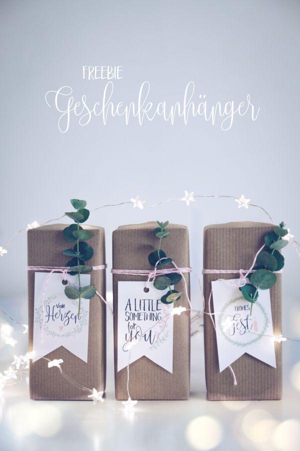 Gratis zum Ausdrucken: Geschenkanhänger zu Weihnachten {Freebie}