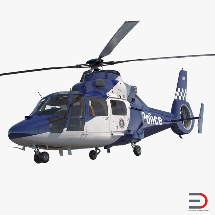 3D model Police Helicopter Eurocopter AS 365 N2 Dauphin Rigged