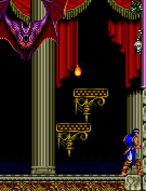 "pixelclash: ""  drill bat - Castlevania: Rondo of Blood (Konami - PC Engine - 1993) """