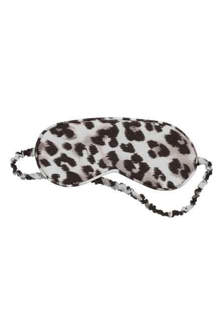 Mascherina da notte leopardata