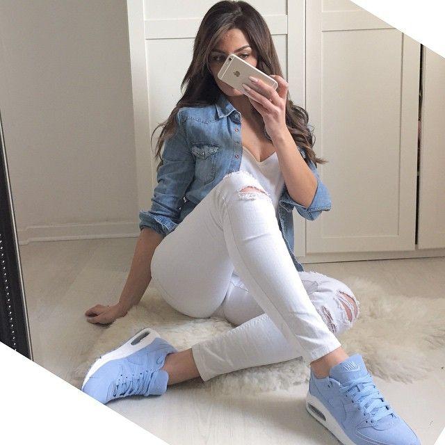 Nike Air Max Command Premium W chaussures bleu beige