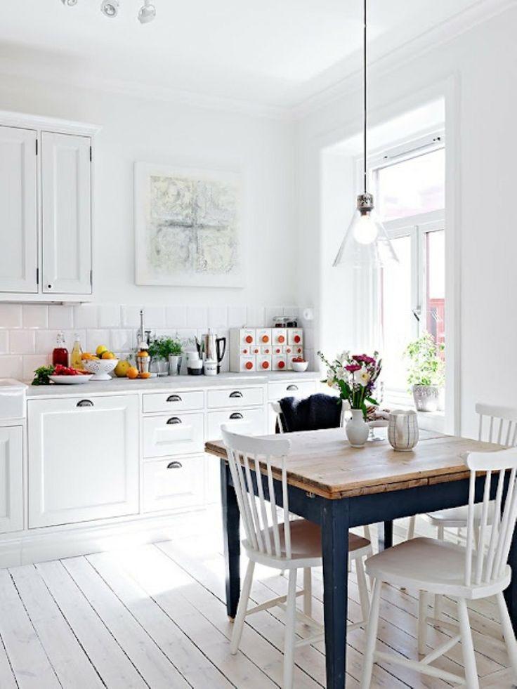 Rustykalna kuchnia w skandynawskim stylu
