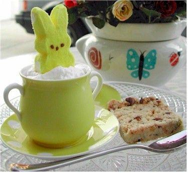 Easter Peep Cocoa: Easter Peep, Holiday Ideas, Peeps Ideas, Cute Ideas, Holiday Food, Easter Ideas Food, Peep Cocoa, Happy Easter