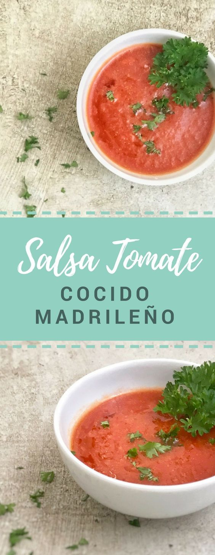 Deliciosa salsa de tomate con cominos para acompañar al cocido. #recipe  #receta #recetasalsadetomate #cominos #healthy #saludable #cocidomadrileño