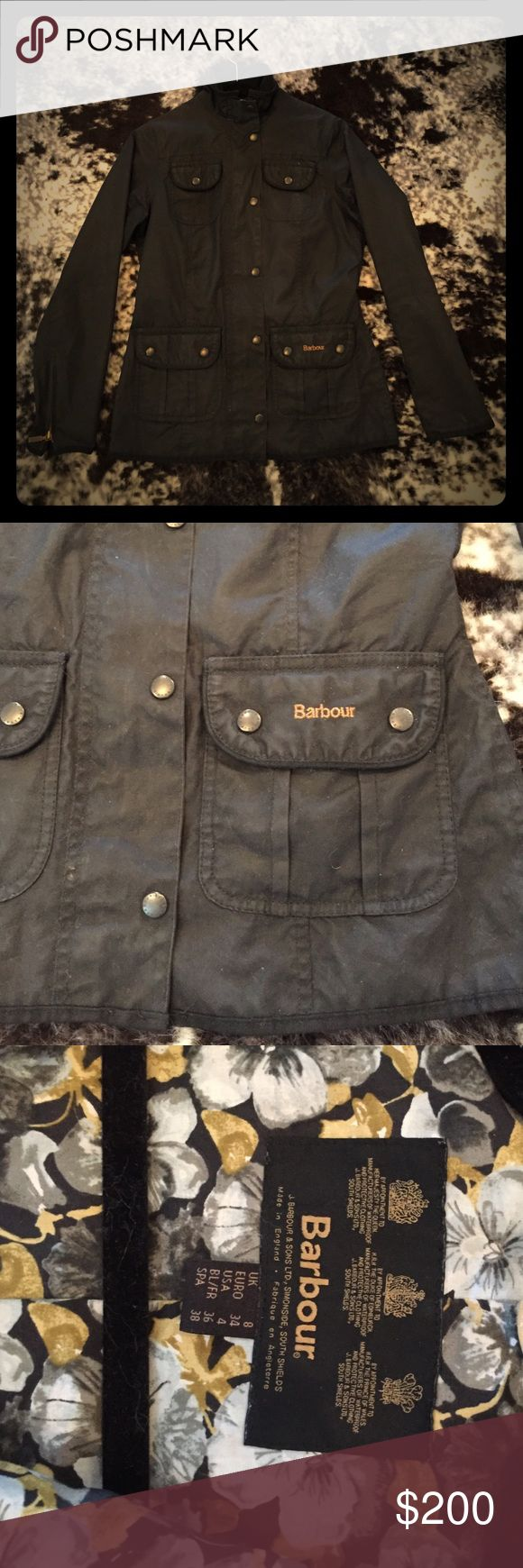 FLASH SALE 🔥 Barbour Classic Green Waxed Jacket Barbour Classic Green Waxed Jacket. This is a small 4! Runs like a small 2-4. Just a little too small for me. Make offers! Bought from another posher. Timeless. Nordstrom carries this brand. Cotton jacket. FINAL PRICE Barbour Jackets & Coats Utility Jackets