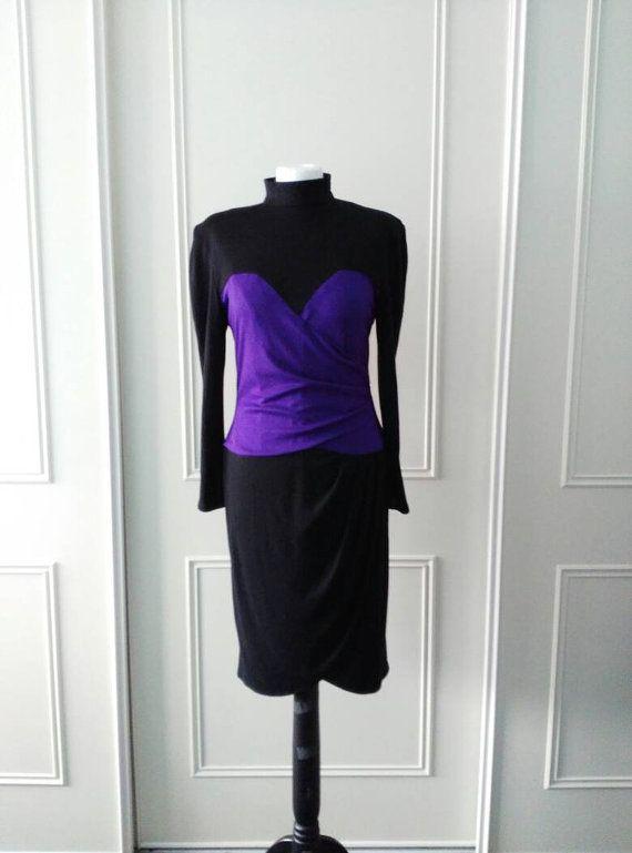 SALE Zandra Rhodes 1980's vintage dress by Bygonefashionbyjane