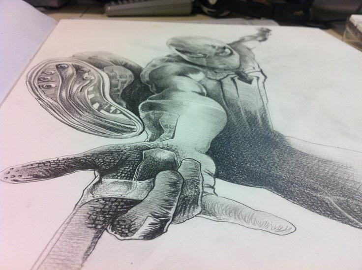 Base de ilustración Spiderman. Autor: Victor Abarca