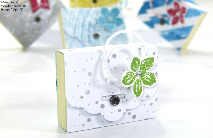 Stampin' Up! UK SPRINGWATCH Tag Topper Punch Mini Post It Notes Tutorial