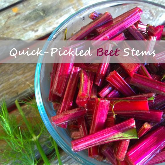 Quick-Pickled Beet Stems