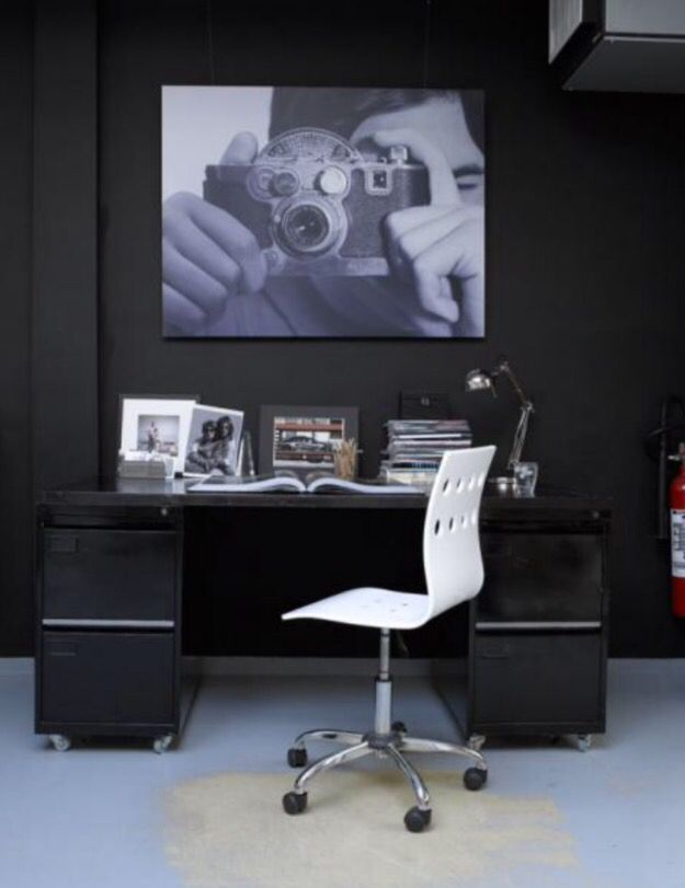 """This stylish work space is from our feature """"Prestigious Pride"""""""