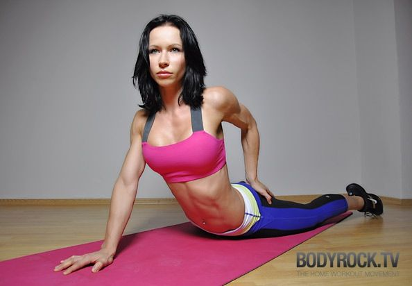 ~15 minutes body weight BodyRock workout