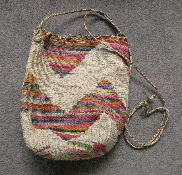 Shigra bag from Ecuador. Woven from a cactus fiber called cabuya