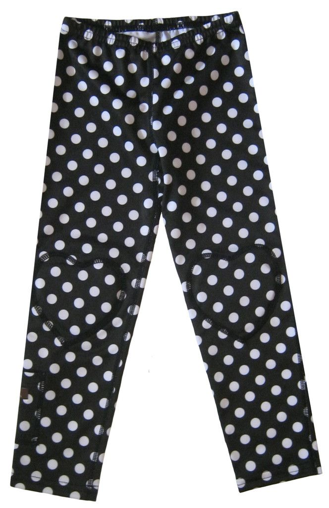 Züpers Leggings come with removable knee pads, so girls can be as active as they'd like and don't have to worry about their clothes!2013 Legs, Long Legs, Züper Long, Baby Girls, Züper Legs, Prints Long, Polkadot Prints, B W Polkadot, Leggings