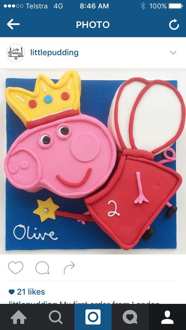 Peppa Pig fairy cake