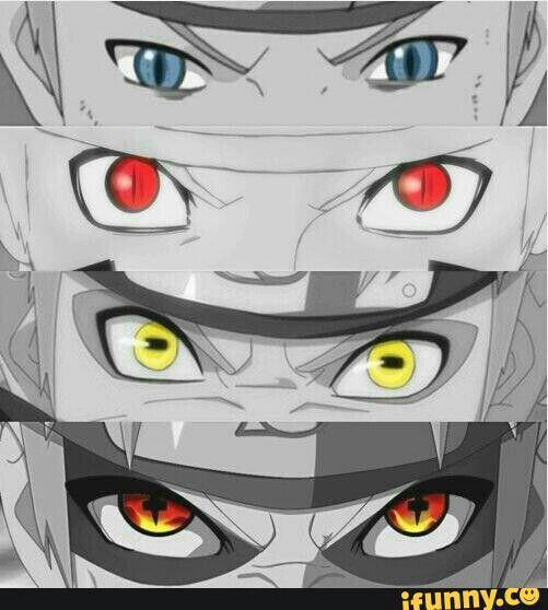Uzumaki Naruto eyes, Nine Tail demon, Sage Mode, Nine Tails Sage Mode; Naruto