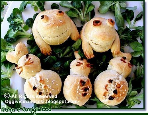 rabbit frog bread