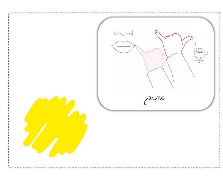 jaune LSF illustration