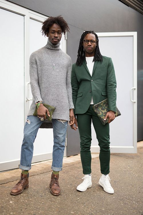 18 Street Styles in Jeans From NY Men Fashion www.zlay.com