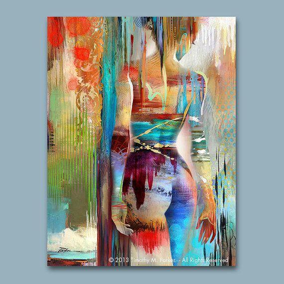 Figura abstracta arte figura pintura reproducción por FigureArt