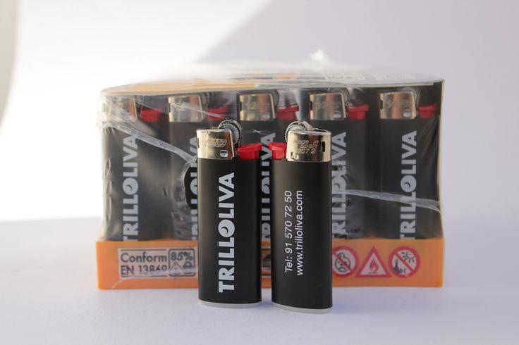 Mecheros BIC J25 personalizados a 1 tinta 2 caras para Trilloliva por LaduDa Publicidad  http://www.ladudapublicidad.es/tienda/mecheros-personalizados/mecheros-bic-j25-personalizados/