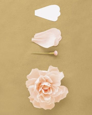 how to make a paper peony / martha stewart
