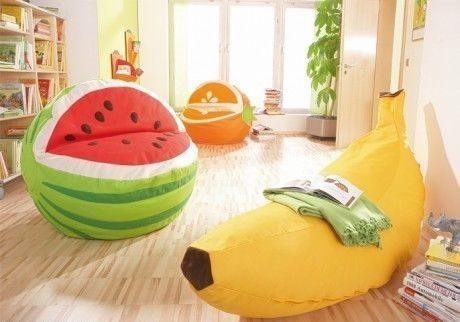Sofás de Banana, Melancia e Laranja - Watermelon-shaped sofa design