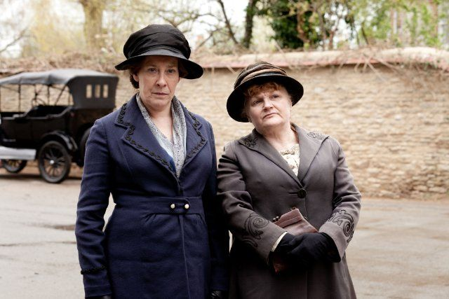 Still of Phyllis Logan and Lesley Nicol in Downton Abbey (2010)Phyllis Logan was born on January 11, 1956 in Paisley, Scotland. She is an actress, known for Secrets & Lies (1996), Lovejoy (1986) and Downton Abbey (2010). She is married to Kevin McNally. They have two children. She was previously married to Paul Tender.