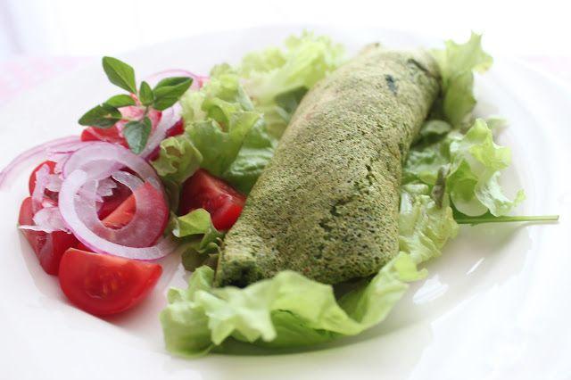 De Cozinha em Cozinha passando pela Minha: Omeleta verde com recheio de abóbora, cogumelos e ...