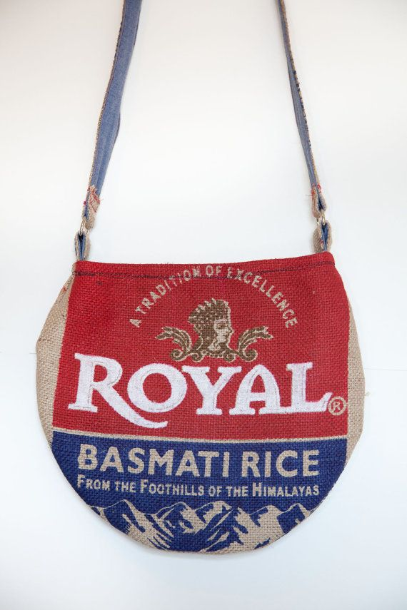 The Basmati Bag - Upcycled Burlap Rice Sack Purse (Long) - Ma Kay Htoo 11  $22.00