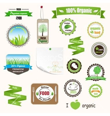 Organic labels logos and stickers vector 1130917 - by 31moonlight31 on VectorStock®