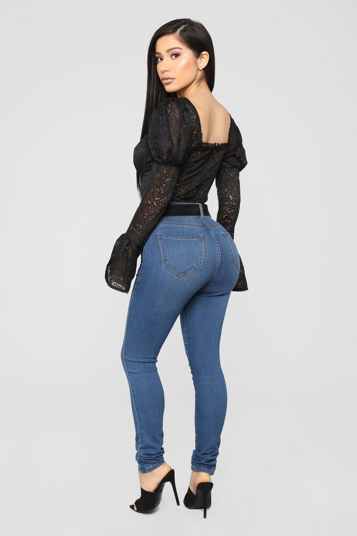 Alexandra Lace Bodysuit  Black in 2019  Janet Guzman