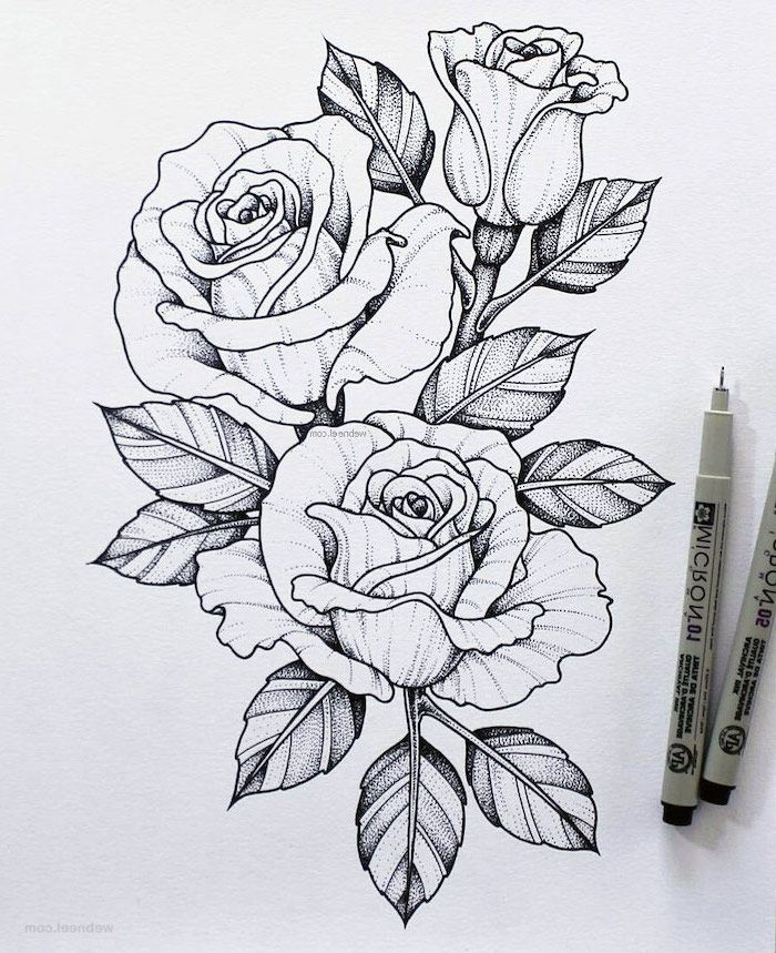 Black And White Pencil Sketch Roses How To Draw A Flower Easy White Background In 2020 Flower Drawing Beautiful Flower Drawings Flower Drawing Images