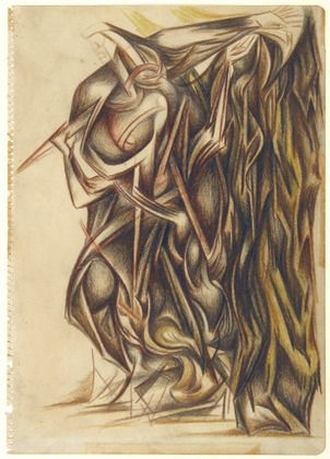 Untitled - Jackson Pollock. Pencil, colored pencils on paper35.6 x 279 cm. Museum of Modern Art, New York, USA