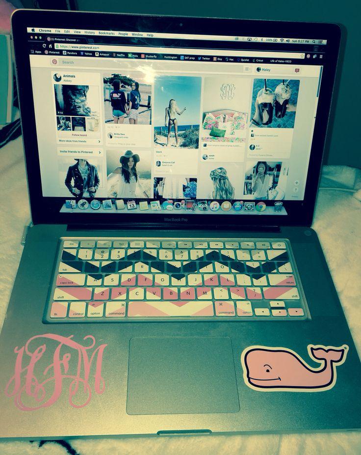 Preppy Laptop Stickers