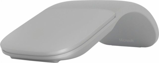 Microsoft - Surface Arc Mouse - Light Grey - Front Zoom